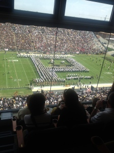 "The Oldest Band Formation in History. The Purdue Block ""P."""