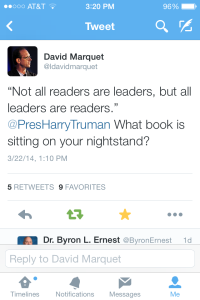 David Marquet's Tweet