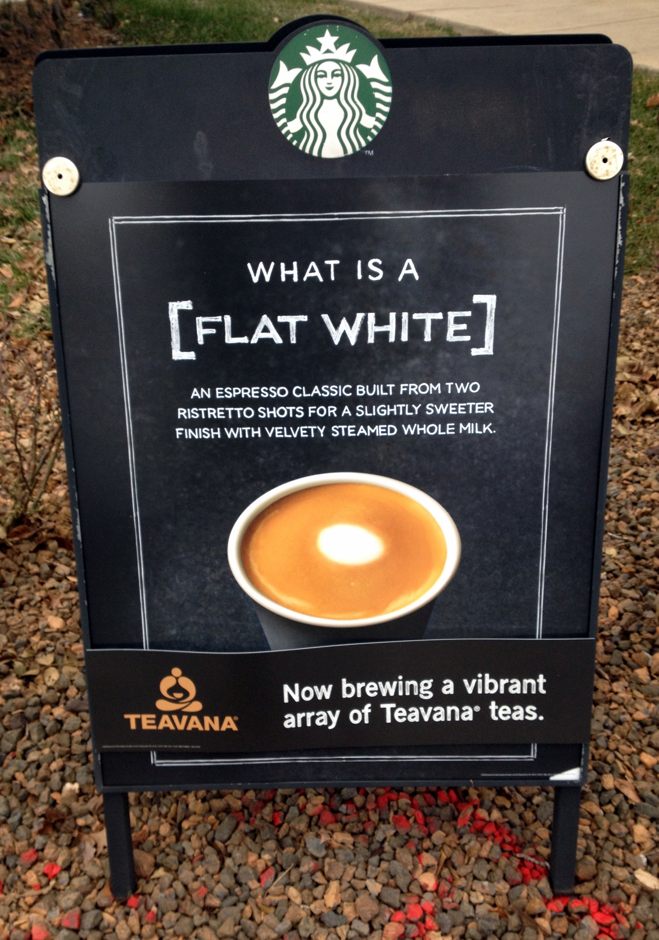Flat white starbucks experience byron 39 s babbles for Michellis menu
