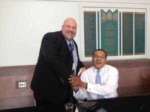 Me Hanging With My Friend, Dr. Freeman Hrabowski