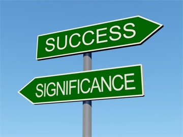 success-or-significance